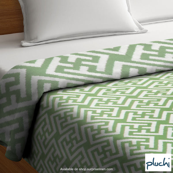 Pluchi - Tabia Cotton Knitted AC Blanket (Green)
