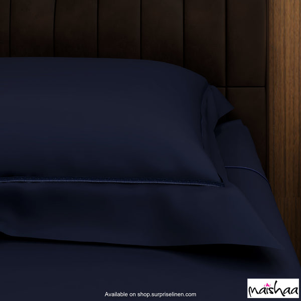 Maishaa - Pure Life Collection Bed Sheet Set (Navy Blue)