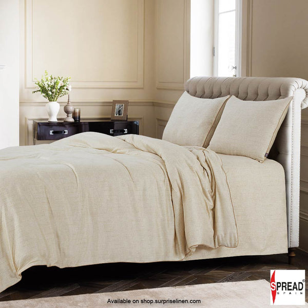 Spread Home - Grain De Glace 400 Thread Count Duvet Cover (Off White)