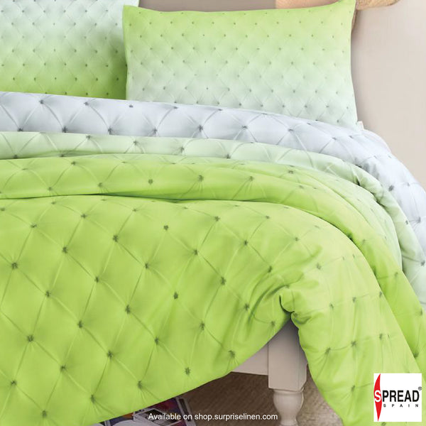 Spread Home - Prints Collection 400 Thread Count Double Bedsheet Set - Light Green
