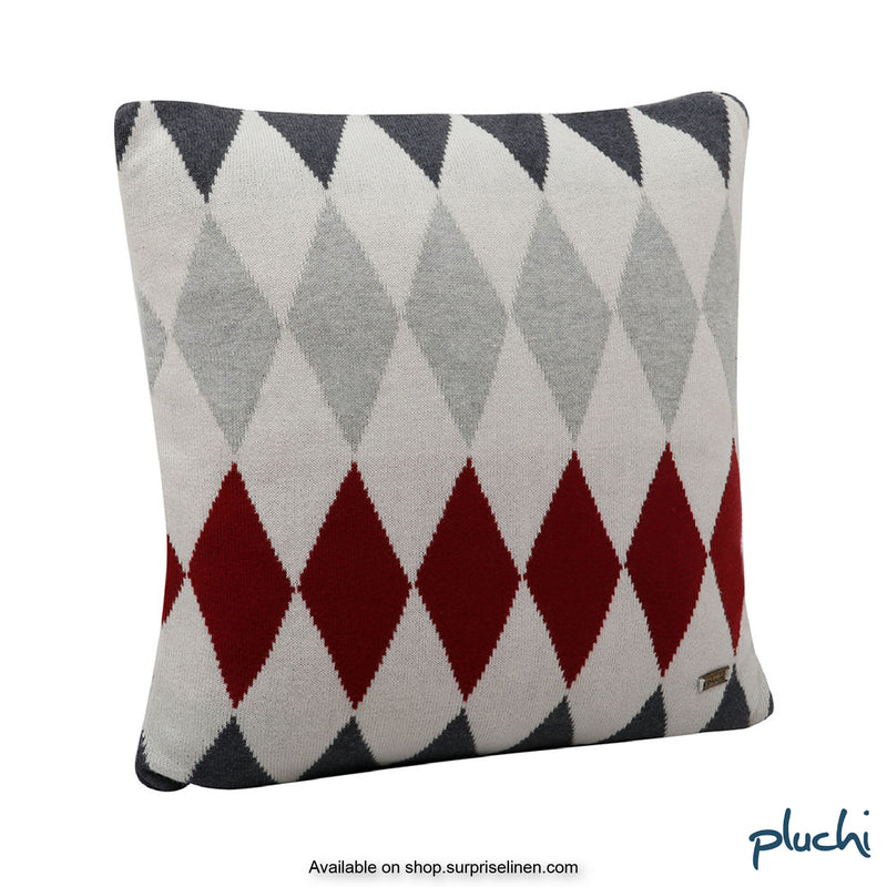 Pluchi -Rainbow Cotton Knitted Cushion Cover