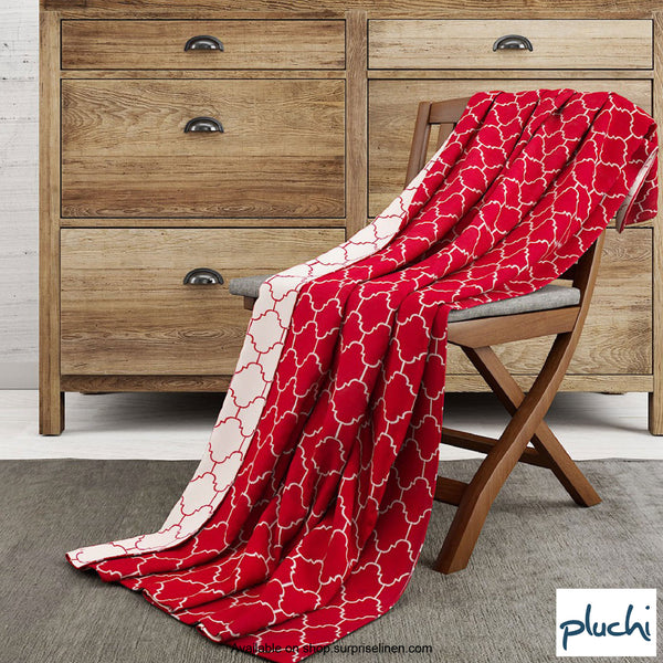 Pluchi - Ellsworth Cotton Knitted AC Blanket (Dark Red)