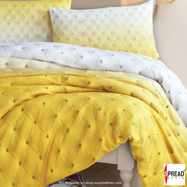 Spread Home - Prints Collection 400 Thread Count Double Bedsheet Set (Yellow)