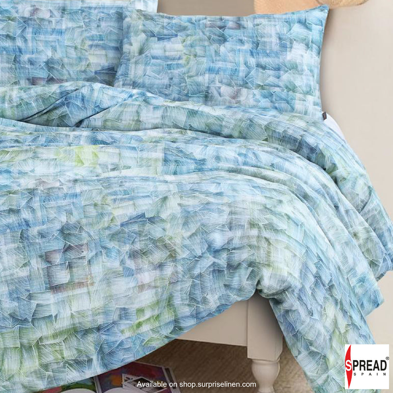 Spread Home - Prints Collection 400 Thread Count Double Bedsheet Set (Sky Blue)