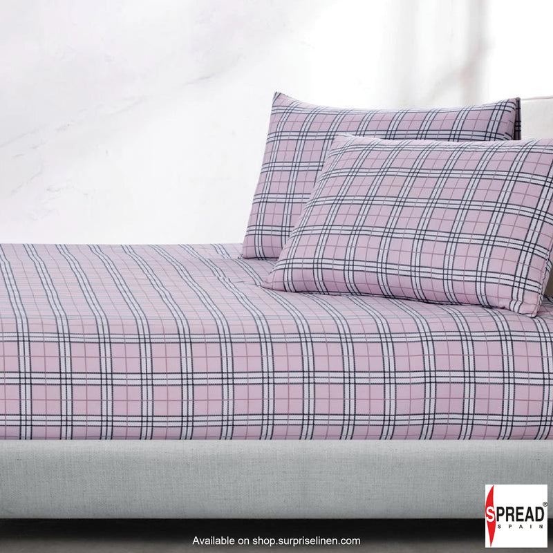 Spread Home - Prints Collection 400 Thread Count Double Bedsheet Set (Light Purple)