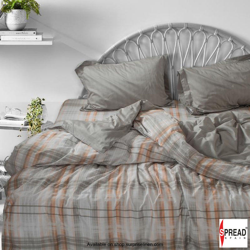Spread Home - Prints Collection 400TC Bedsheet Set (Checkered Grey)