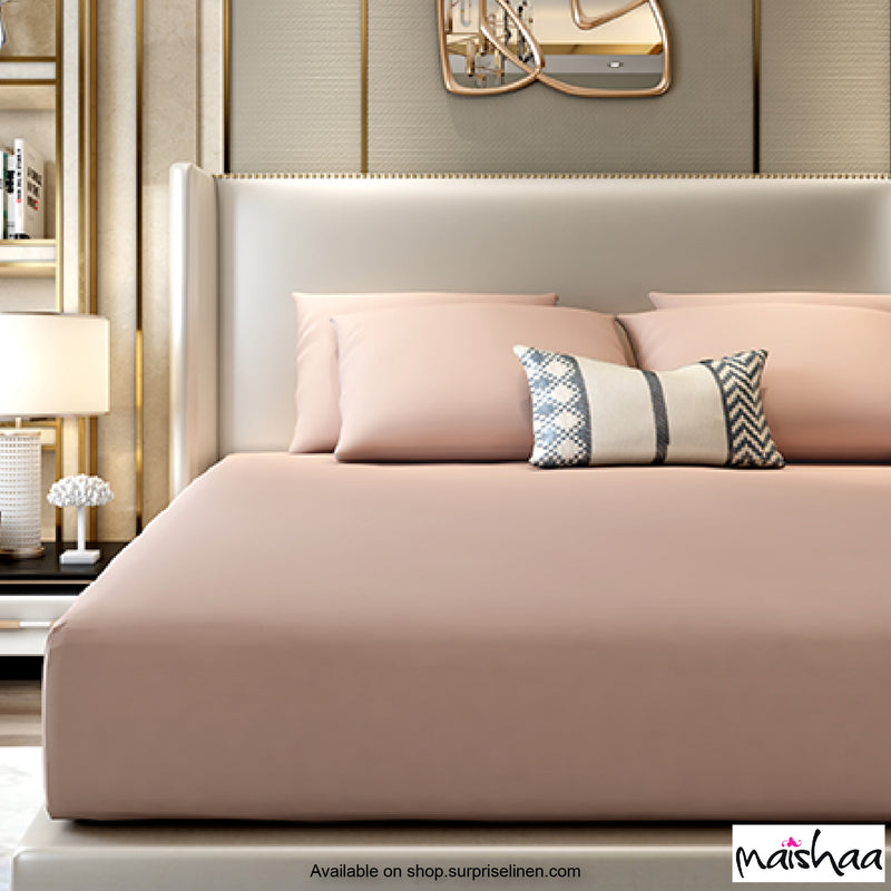 Maishaa - Rejuvenate Collection Water Proof Bed Sheet (Pale Pink)
