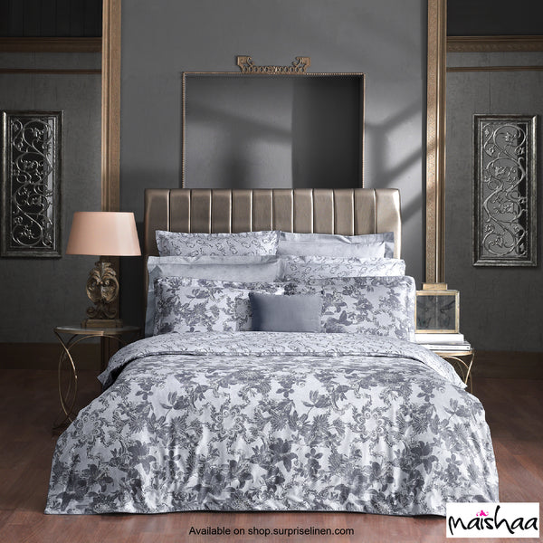 Maishaa - Odilia Collection Petersburg Bed Sheet Set (Grey)