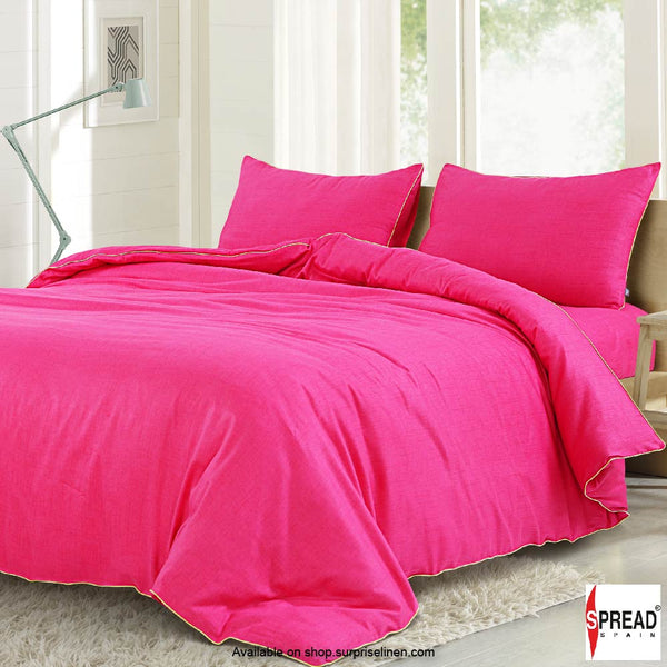 Spread Home - Grain De Glace 400 Thread Count Duvet Cover (Pink)