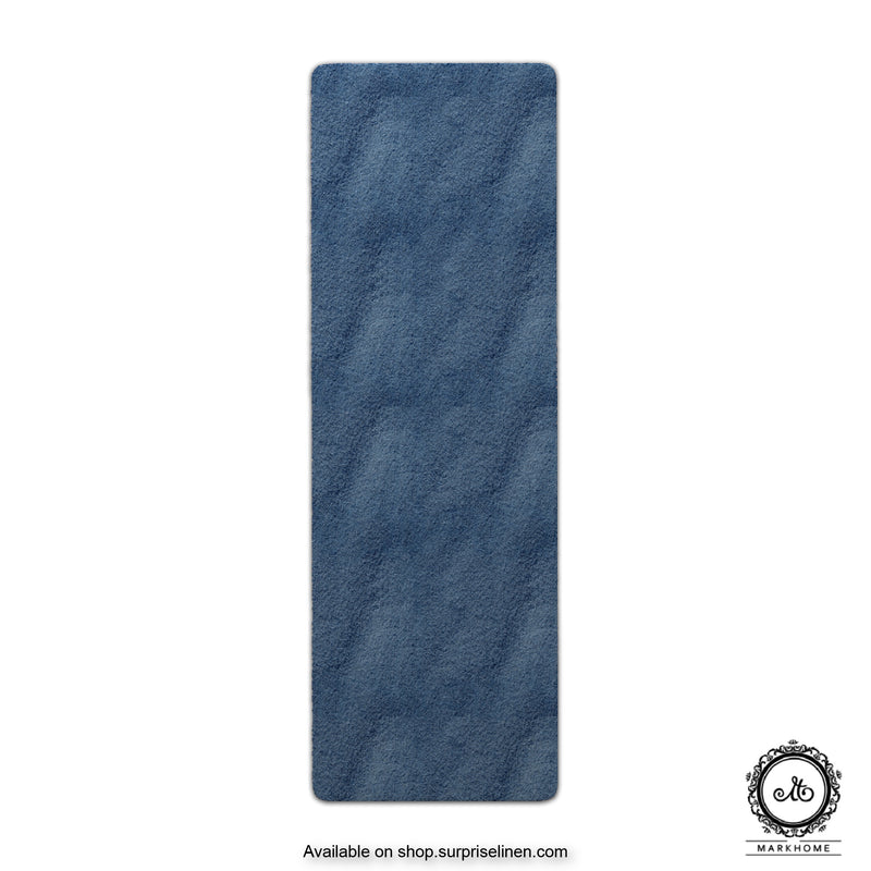 Mark Home - 100% Micro Anti Skid Durable Softness Plush Lustrous Rugs 50cm x 150cm (Navy)
