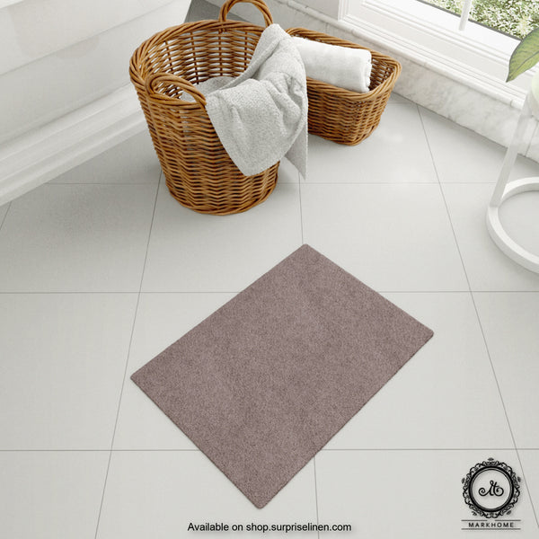 Mark Home - 100% Micro Anti Skid Durable Softness Plush Lustrous Rugs 40cm x 60cm (Grey)