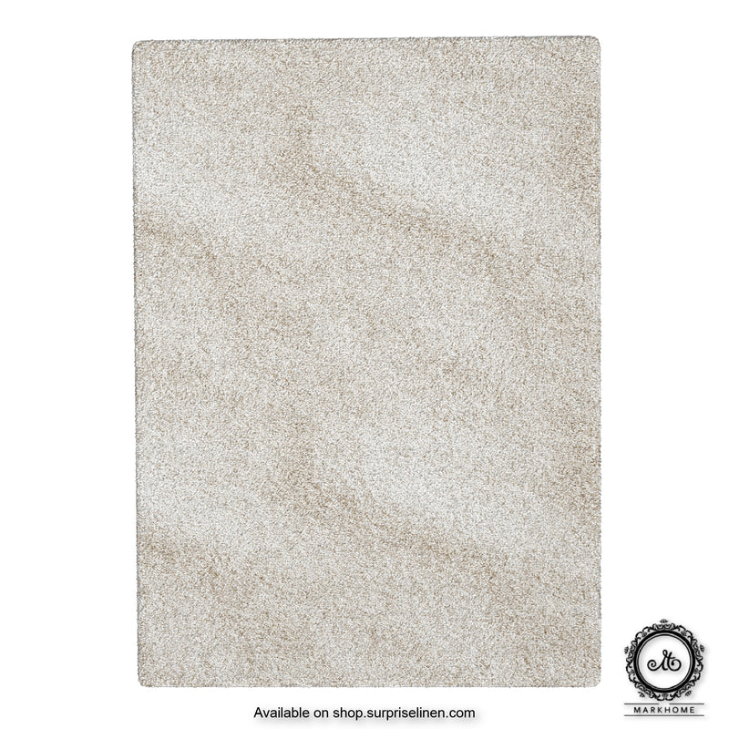 Mark Home - 100% Micro Anti Skid Durable Softness Plush Lustrous Rugs 50cm x 70cm (Ivory)