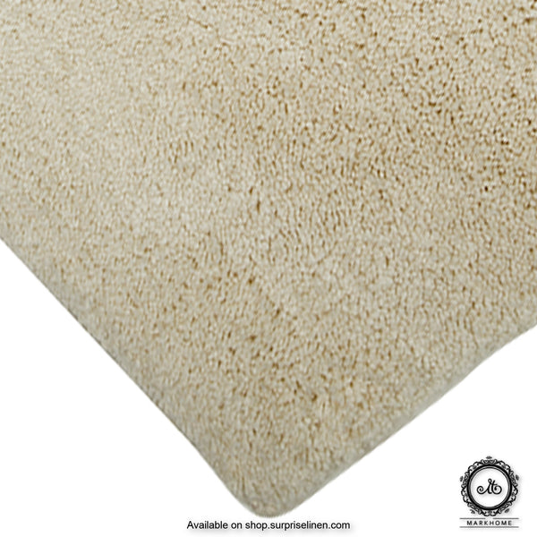 Mark Home - 100% Micro Anti Skid Durable Softness Plush Lustrous Rugs 40cm x 60cm (Ivory)