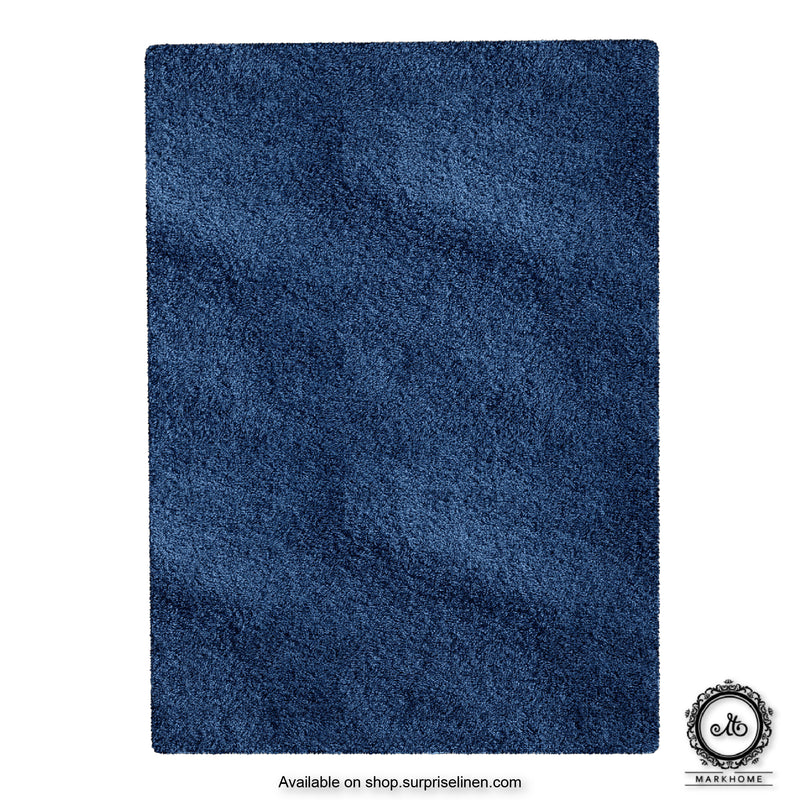 Mark Home - 100% Micro Anti Skid Durable Softness Plush Lustrous Rugs 50cm x 70cm (Navy)