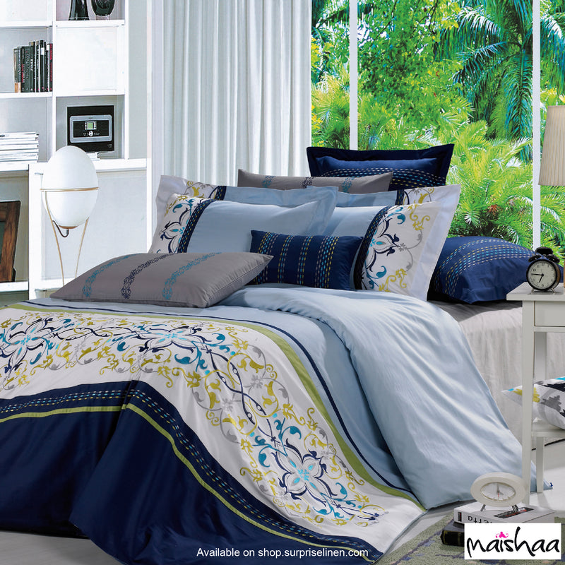 Maishaa - Thread Art Collection Bed Sheet Set (Royale)