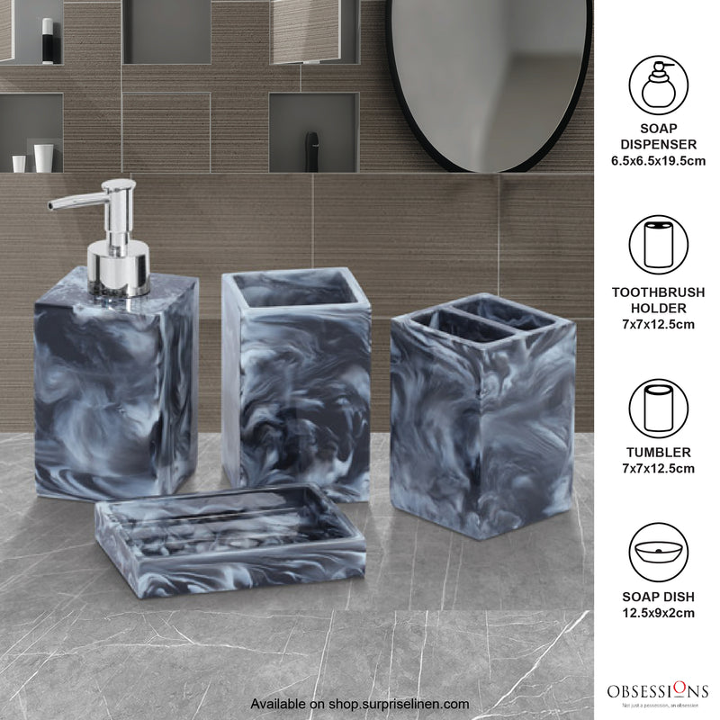 Obsessions - Spaze 4 Pcs Bath Set (Smoke Grey)