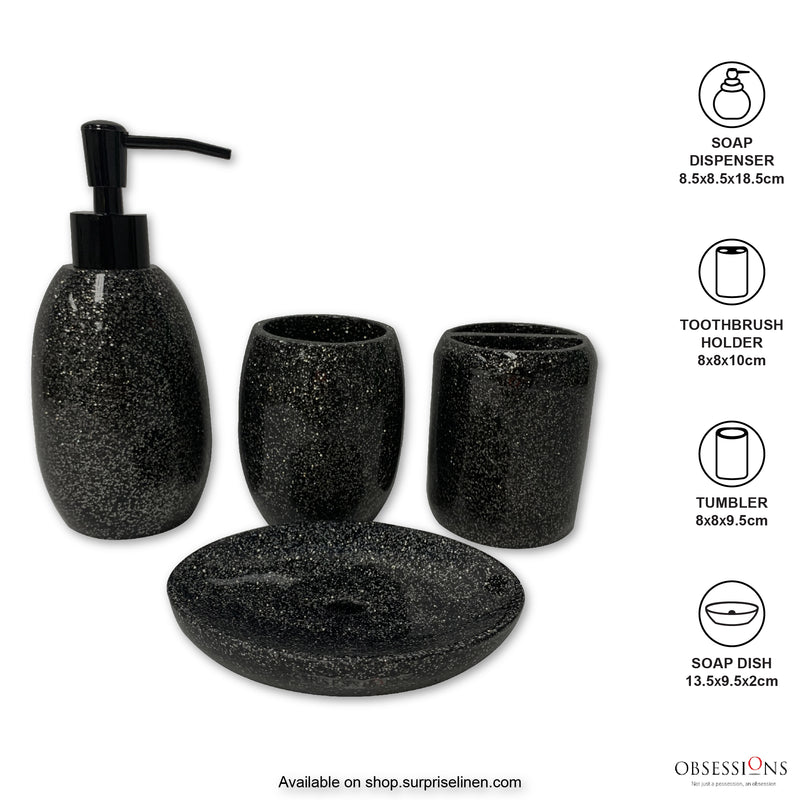 Obsessions - Spaze 4 Pcs Bath Set (Black)
