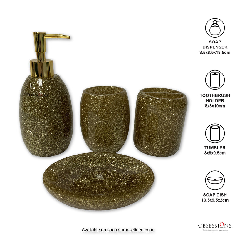 Obsessions - Spaze 4 Pcs Bath Set (Gold)