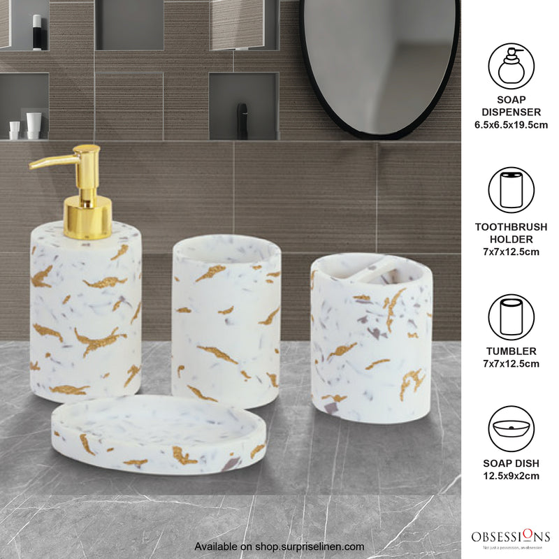 Obsessions - Spaze 4 Pcs Bath Set (White Gold)