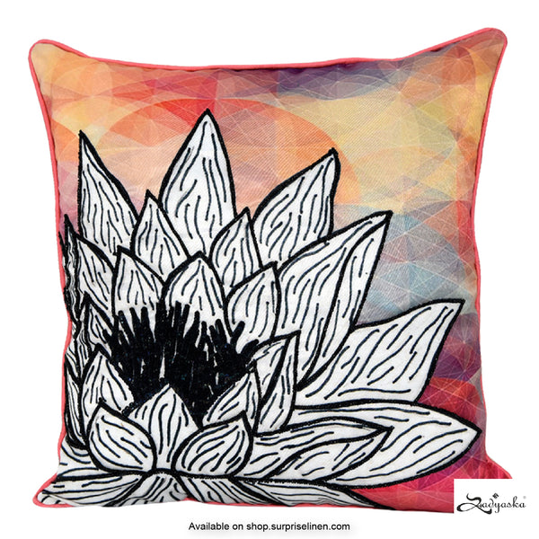 Sadyaska - Digital Printed Cushion Cover (Blush Pink)