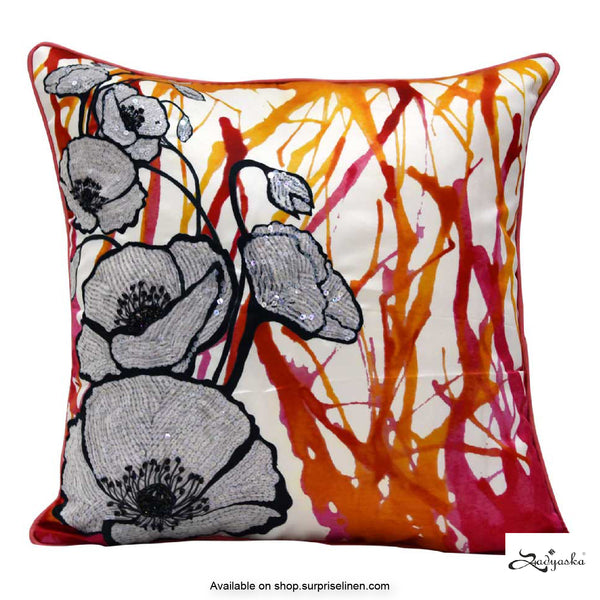 Sadyaska - Digital Printed Cushion Cover (Pink)