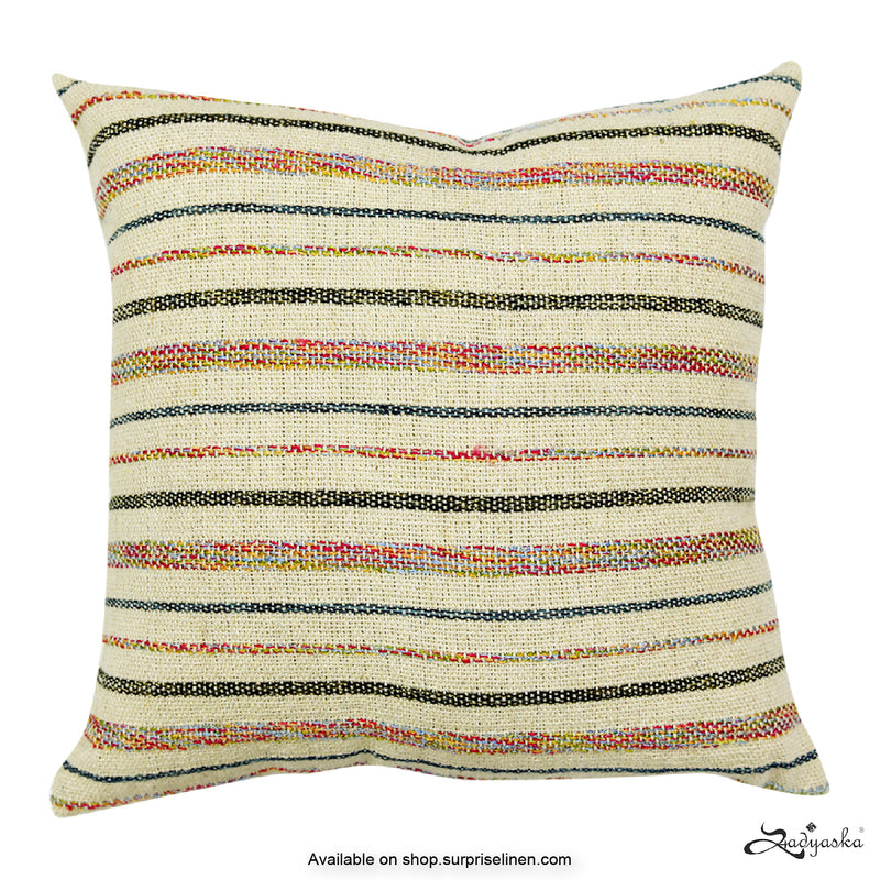 Sadyaska - Hand Woven Stripes Cushion Covers (Multicolour)