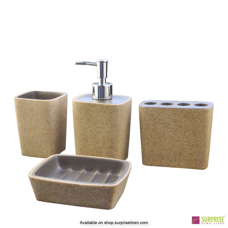 Surprise Home - Cube Series 4 Pcs Bath Set (Light Beige)