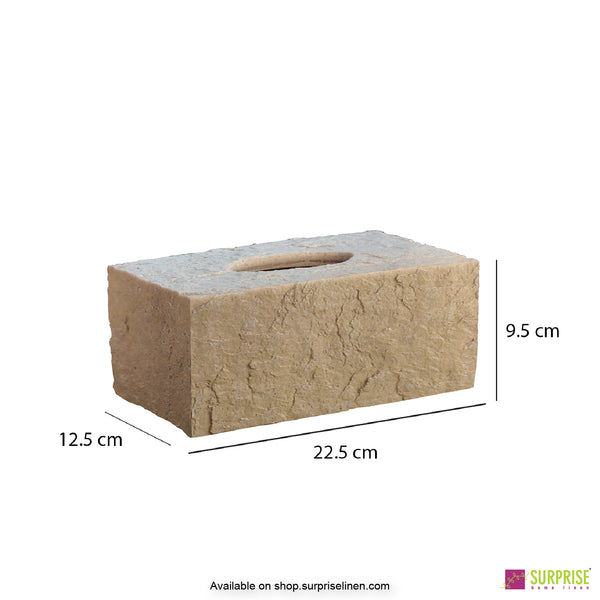 Surprise Home - Cube Tissue Box (Light Brown)