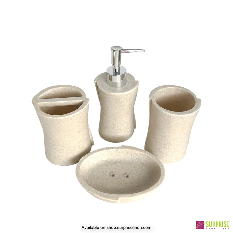 Surprise Home -Hue Series 4 Pcs Bath Set (Off White)