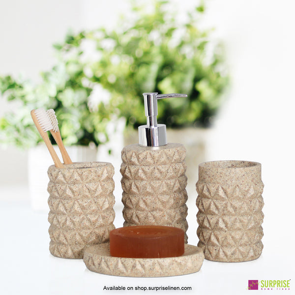 Surprise Home -Hue Series 4 Pcs Bath Set (Stone)