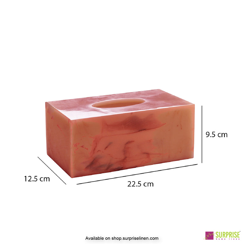 Surprise Home - Primo  Tissue Box (Coral Pink )