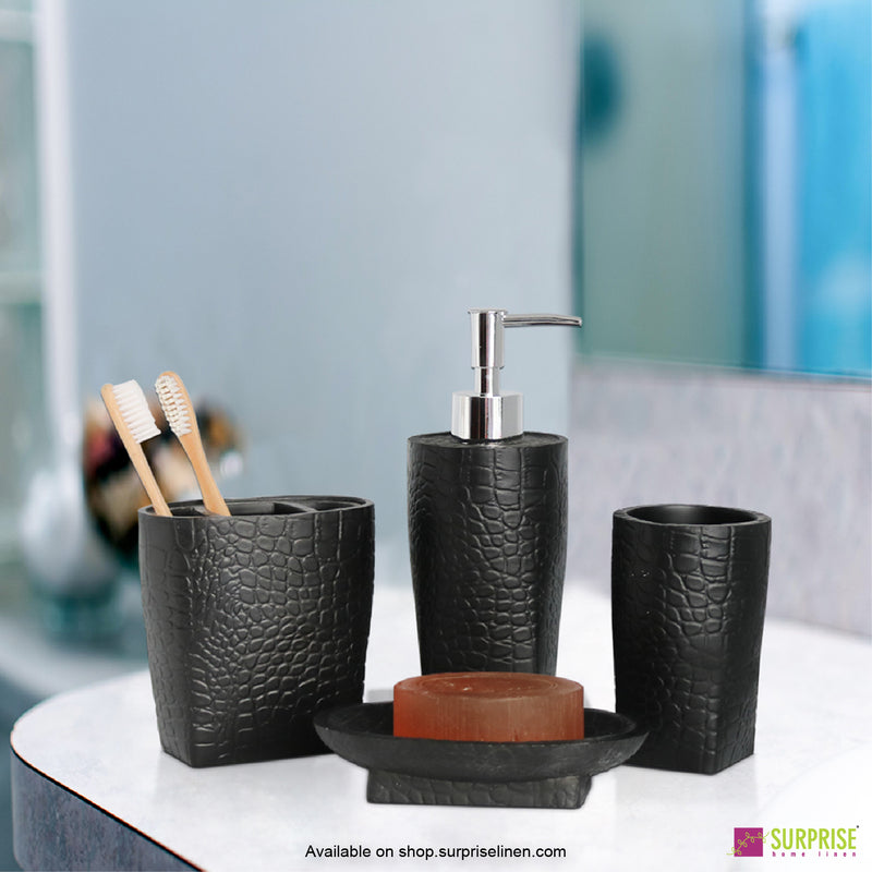 Surprise Home - Recto Series  4 Pcs Bath Set (Charcoal)
