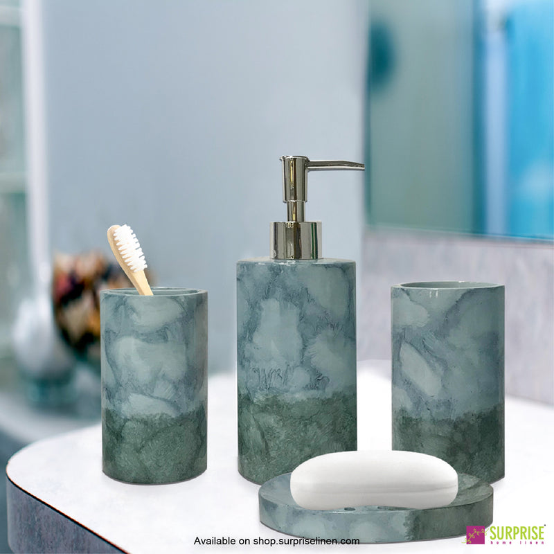 Surprise Home - Recto Series  4 Pcs Bath Set (Aqua Blue)