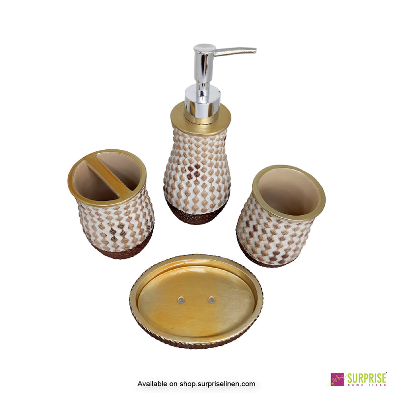Surprise Home - Recto Series  4 Pcs Bath Set (Golden Brown)