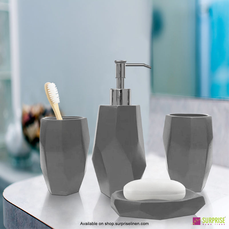 Surprise Home - Recto Series  4 Pcs Bath Set (Fossil Grey)