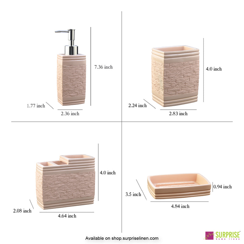 Surprise Home - Recto Series  4 Pcs Bath Set (Baby Pink)