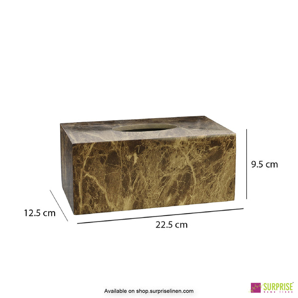 Surprise Home - Recto Tissue Box (Marble Beige)