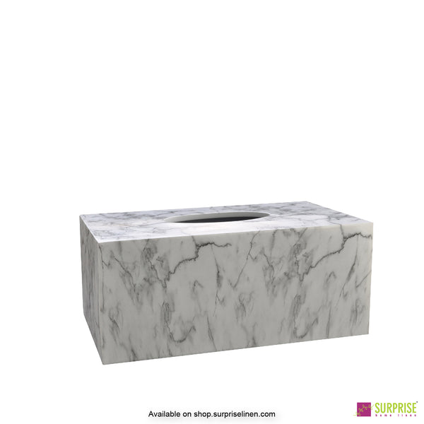 Surprise Home - Recto Tissue Box (Marble White)