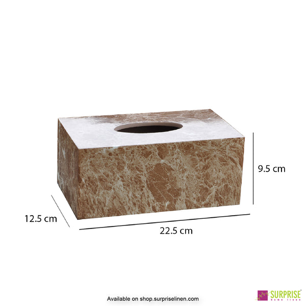 Surprise Home - Recto Tissue Box (Marble Brown)
