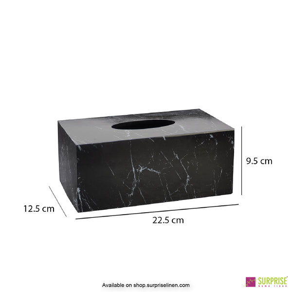 Surprise Home - Recto Tissue Box (Marble Black)