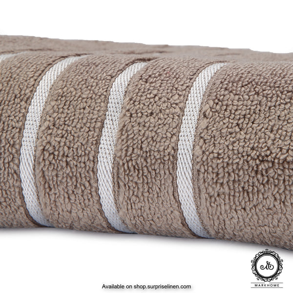 Mark Home - 100% Cotton 500 GSM Zero Twist Anti Microbial Treated Simply Soft Bath Towel (Beige)