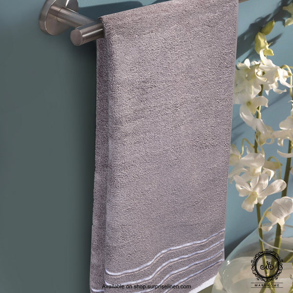 Mark Home - 100% Cotton 500 GSM Zero Twist Anti Microbial Treated Simply Soft Bath Towel (Grey)