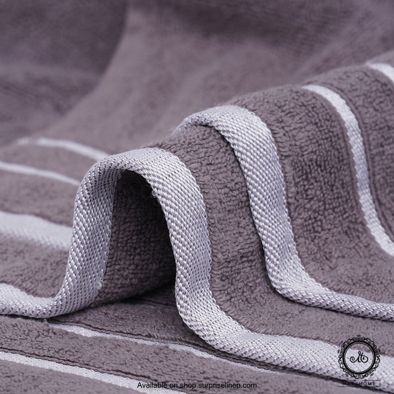 Mark Home - 100% Cotton 500 GSM Zero Twist Anti Microbial Treated Simply Soft Gift Set of 06 Pcs (Grey)