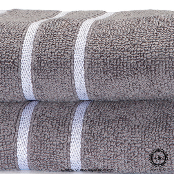 Mark Home - 100% Cotton 500 GSM Zero Twist Anti Microbial Treated Simply Soft Hand Towel (Grey)