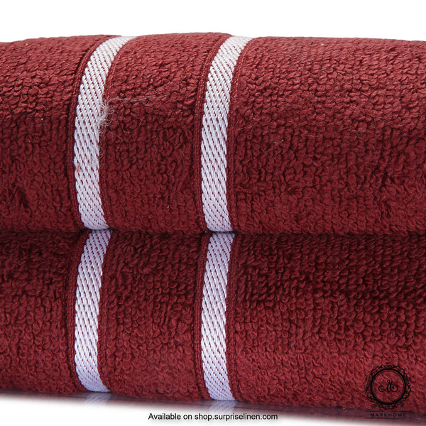 Mark Home - 100% Cotton 500 GSM Zero Twist Anti Microbial Treated Simply Soft Hand Towel (Maroon)