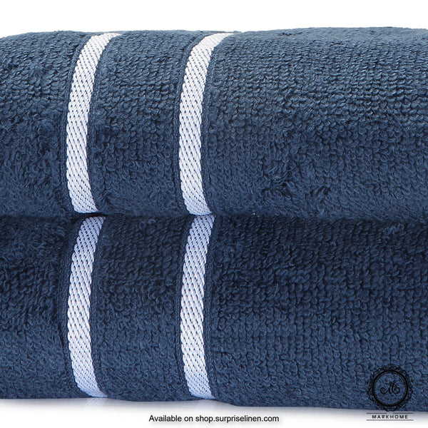 Mark Home - 100% Cotton 500 GSM Zero Twist Anti Microbial Treated Simply Soft Hand Towel (Navy)