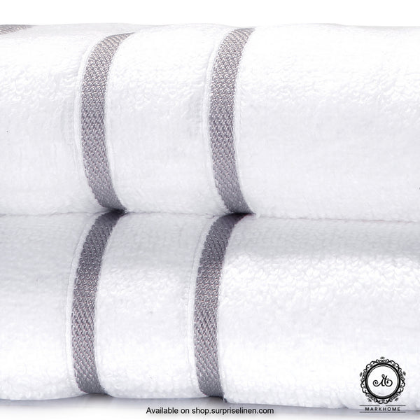 Mark Home - 100% Cotton 500 GSM Zero Twist Anti Microbial Treated Simply Soft Hand Towel (White)