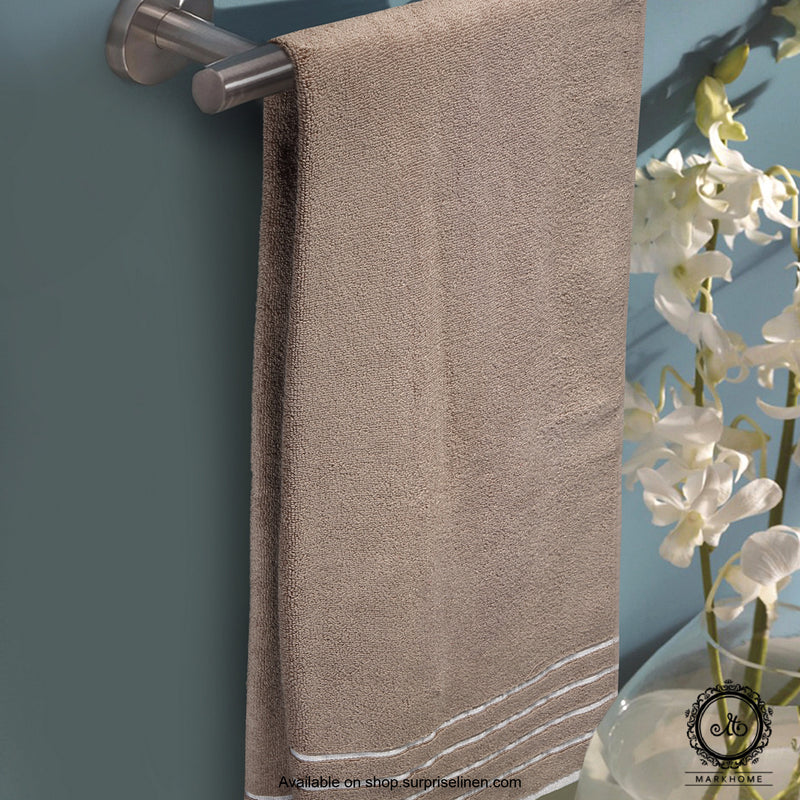 Mark Home - 100% Cotton 500 GSM Zero Twist Anti Microbial Treated Simply Soft Ladies Towel (Beige)