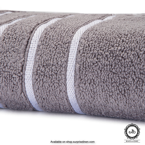 Mark Home - 100% Cotton 500 GSM Zero Twist Anti Microbial Treated Simply Soft Ladies Towel (Grey)