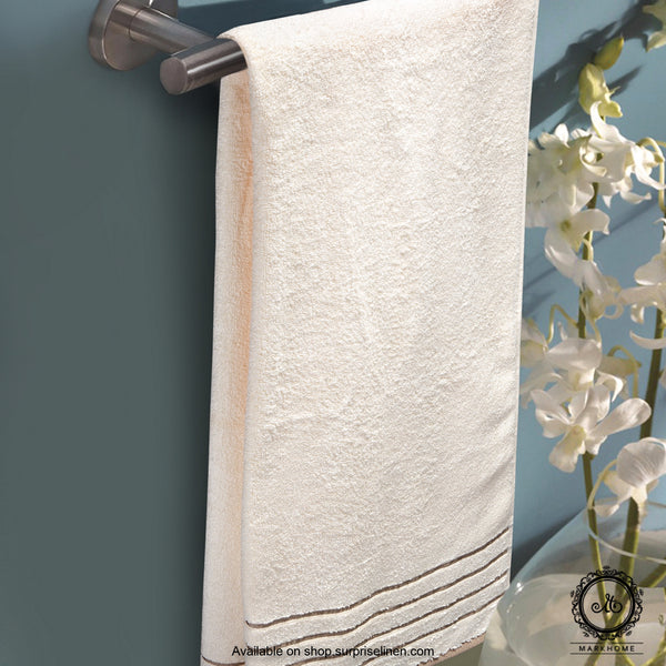 Mark Home - 100% Cotton 500 GSM Zero Twist Anti Microbial Treated Simply Soft Ladies Towel (Ivory)